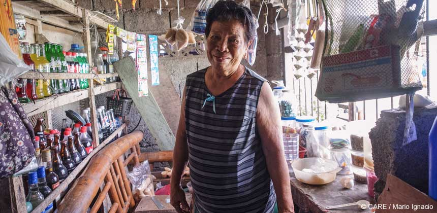 Veronica Jaingue in her shop