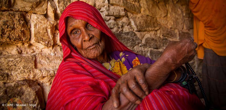 An elderly woman in Somaliland